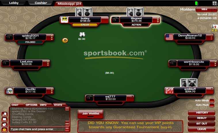 sportsbook poker