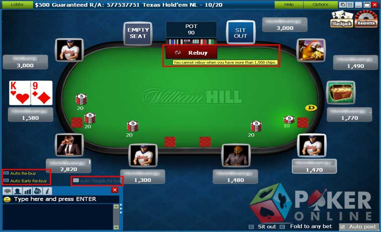 william hill poker online